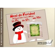 Cartas de Menú de Navidad y Año Nuevo