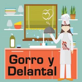 Gorro y Delantal Chef, personalizados